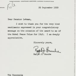 Letter: 1950 September 26