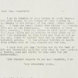 Letter: 1930 May 5