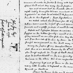 Document, 1796 June 06