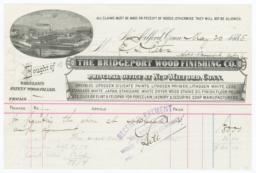 Bridgeport Wood Finishing Co.. Bill - Recto