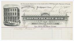 David Trubee & Co.. Bill - Recto