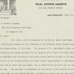 Baldwin & Howell. Letter