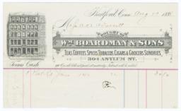 Wm. Boardman & Sons. Bill - Recto