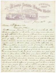 Blandy's Portable Engine Works. Letter - Recto