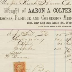 Aaron A. Colter & Co.. Bill