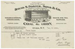 David S. Foster, Sons & Co.. Bill - Recto