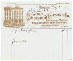 Sherwood Hopson & Co.. Bill - Recto