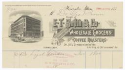 E. T. Smith & Co.. Bill - Recto