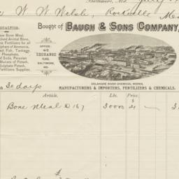 Bauch & Sons Company. Bill