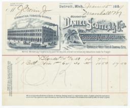 Daniel Scotten & Co.. Bill - Recto