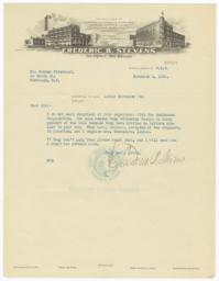 Frederic B. Stevens. Letter - Recto