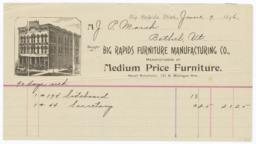 Big Rapids Furniture Manufacturing Co.. Bill - Recto