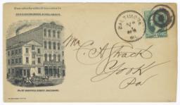 Hirschberg Bros. & Hollander. Envelope - Recto