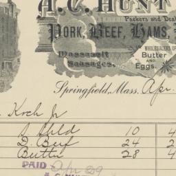 A. C. Hunt & Co.. Bill