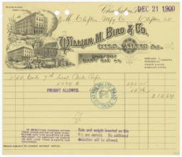 William M. Bird & Co.. Bill - Recto