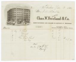 Chas. W. Freeland & Co.. Bill - Recto