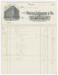 Wilson, Larrabee & Co.. Bill - Recto