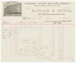 Bigelow & Dowse Co.. Bill - Recto
