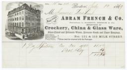 Abram French Company. Bill - Recto
