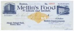 Mellin's Food for Infants and Invalids. Check - Recto