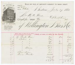 Wellington Bros. & Co.. Bill - Recto