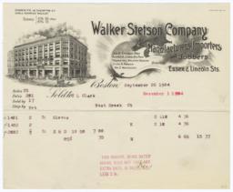 Walker, Stetson Sawyer Co.. Bill - Recto