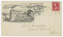 Richmond Wheat & Corn Mills. Envelope - Recto