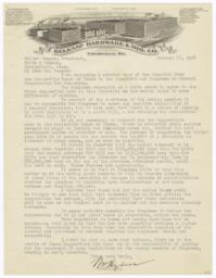 Belknap Hardware & Mfg. Co.. Letter - Recto