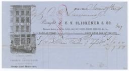 C. V. Clickener & Co.. Bill - Recto