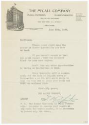 McCall Company. Letter - Recto