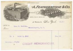 A. Featherstone & Co.. Bill - Recto