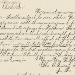 American Needle Co.. Letter