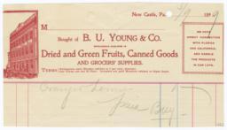 B. U. Young & Co.. Bill - Recto