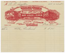 Wright Gillies. Bill - Recto