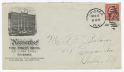 Kaiserhof. Envelope - Recto