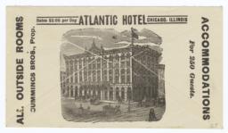Atlantic Hotel. Envelope - Recto