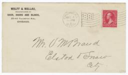 Wolff & Nollau. Envelope - Verso