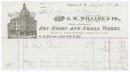 E. W. Willard & Co.. Bill - Recto