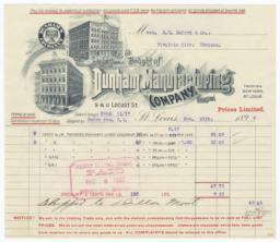 Dunham Manufacturing Company. Bill - Recto