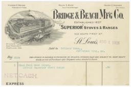Bridge & Beach M'f'g Co.. Bill - Recto