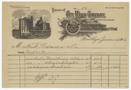 City Mills Company. Bill - Recto