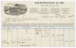 Westerman & Co.. Bill - Recto