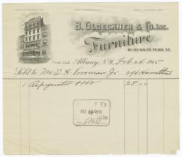 B. Gloeckner & Co. Inc.. Bill - Recto