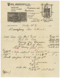 Ward, Anderson & Co.. Letter - Recto