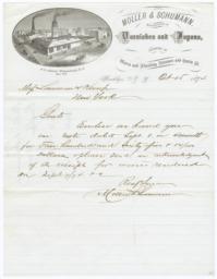 Moller & Schumann. Letter - Recto