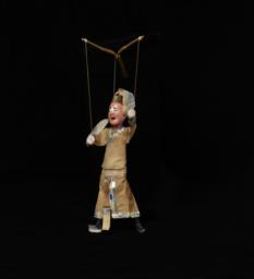 Chinese Jigging Puppet Of Male With Pink Face