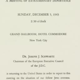 Invitation: 1943 December 5