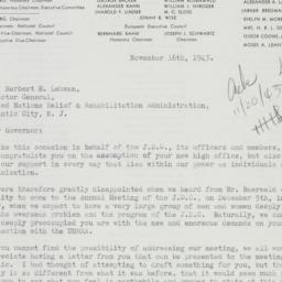 Letter: 1943 November 16
