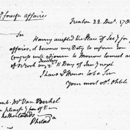 Document, 1784 December 22