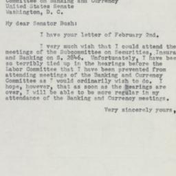 Letter: 1954 February 4